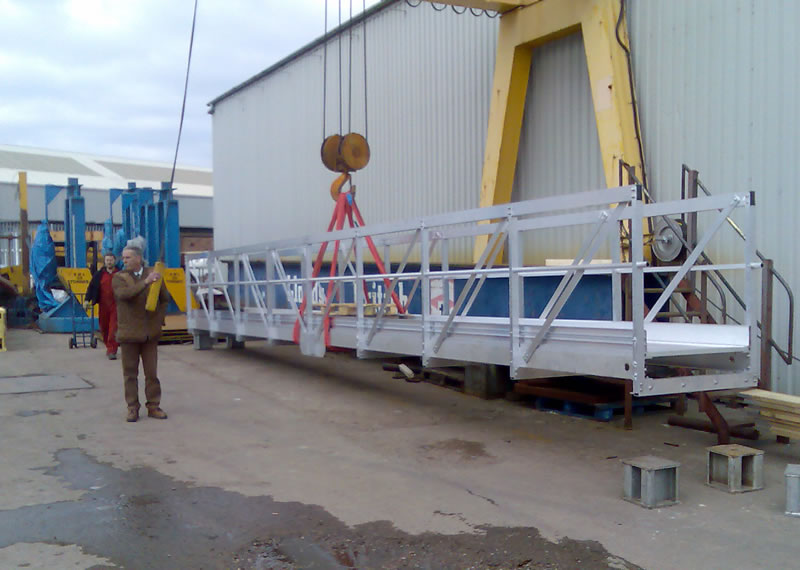 Aluminium marine gangway supplied to Brega Port – Libya