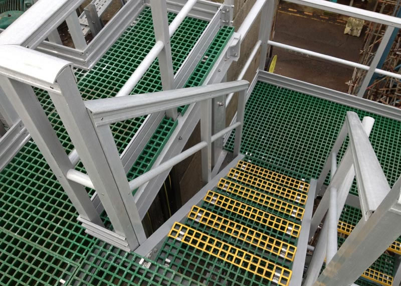 GRP access platforms stairs and handrails