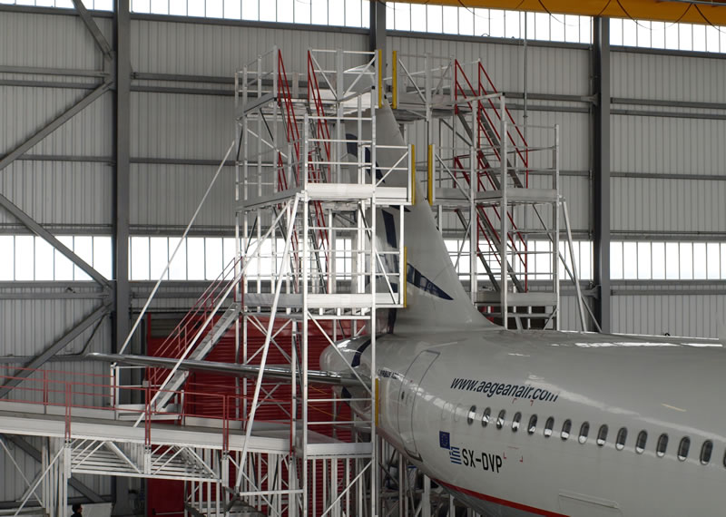 Aluminium aviation access platforms